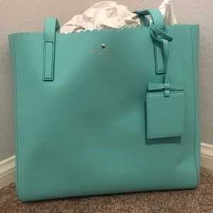 Kate Spade Sky Blue Scalloped Shoulder Bag